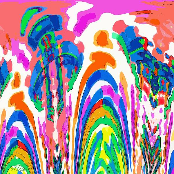 The Colors Fountain Art Print