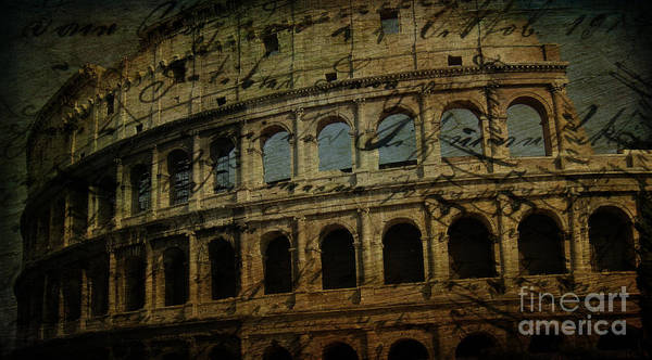 Wall Art - Photograph - The Colosseum Of Rome by Lee Dos Santos