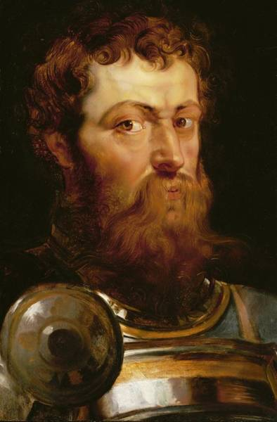 Preparation Painting - The Commander's Head  by Peter Paul Rubens