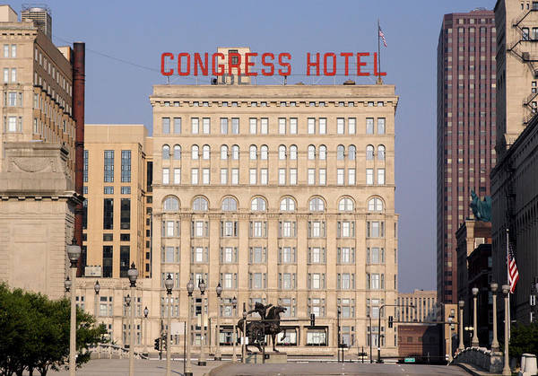 Ely Wall Art - Photograph - The Congress Hotel - 1 by Ely Arsha