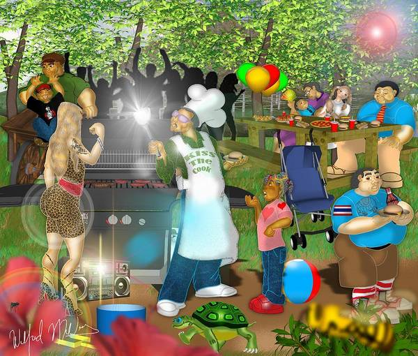 Cookout Digital Art - The Cookout   by Wilfred Mellers