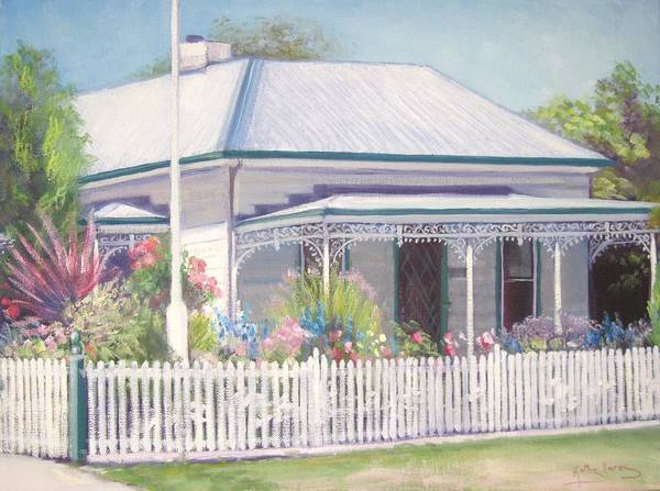 Painting - The Cottage by Kathy  Karas
