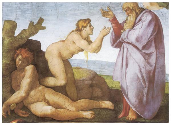 Buonarroti Wall Art - Painting - The Creation Of Eve by Michelangelo Buonarroti