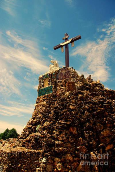 Inri Wall Art - Photograph - The Cross II In The Grotto In Iowa by Susanne Van Hulst