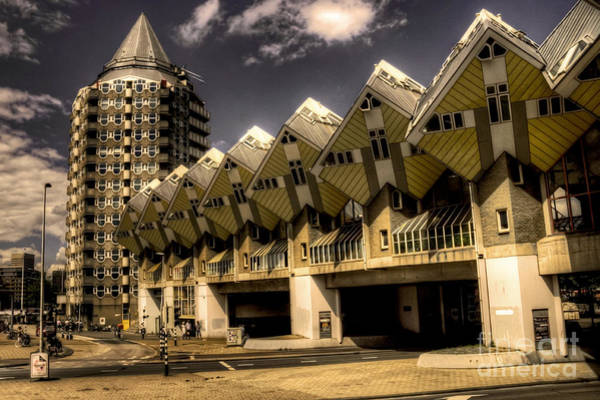 Cube House Wall Art - Photograph - The Cube House  by Rob Hawkins