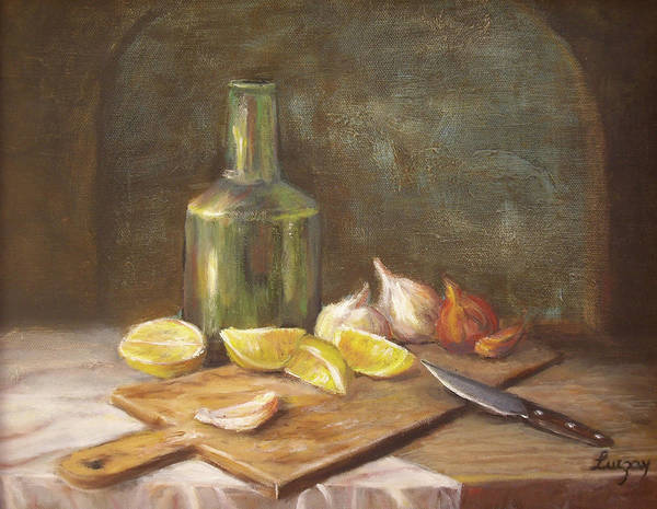 Painting - The Cutting Board by Katalin Luczay