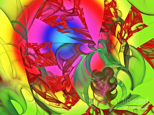 Wall Art - Digital Art - The Dancing Rainbow by Andee Design