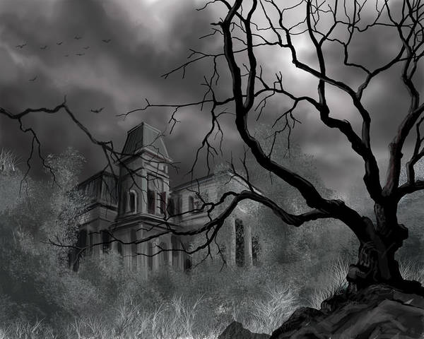 Painting - The Dark Mansion by James Christopher Hill