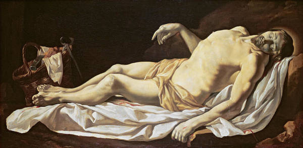 Wall Art - Painting - The Dead Christ by Charles Le Brun