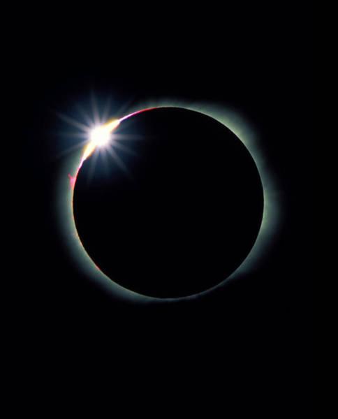 Feb Wall Art - Photograph - The Diamond Ring Effect During Total Sola by David Nunuk