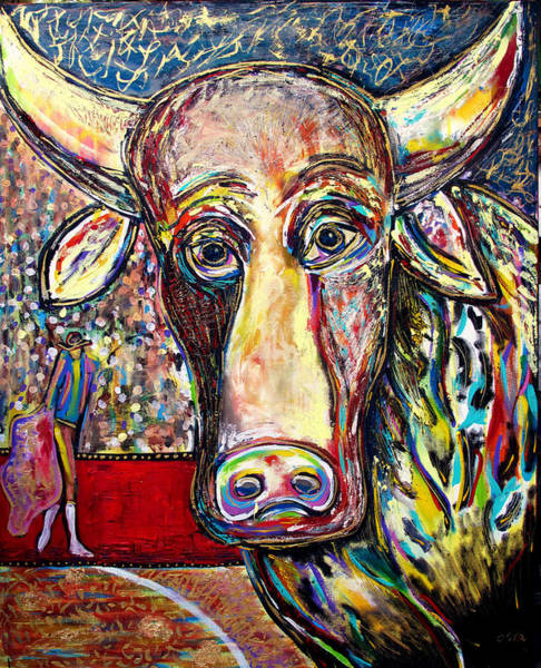 Torro Painting - The Disinterested Bull by Andrew Osta