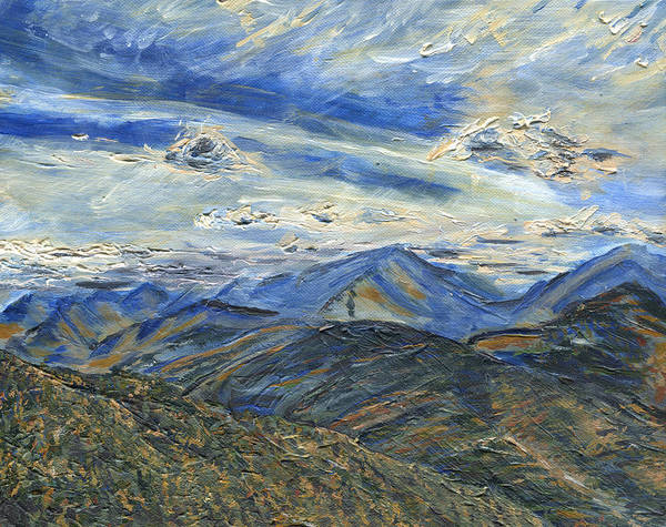 Adirondack Mountains Painting - The Dix Range From Giant Peak by Denny Morreale