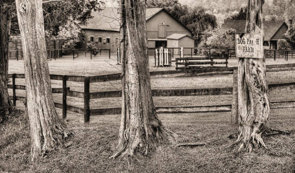 Warrenton Wall Art - Photograph - The Dog Patch Bw by JC Findley