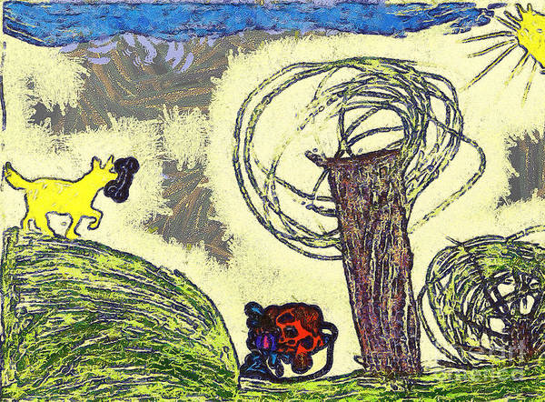 Gitana Wall Art - Painting - The Dog Walk On The Field by Odon Czintos