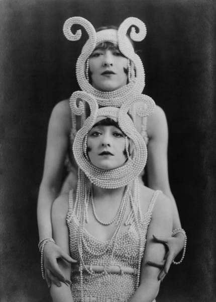 Burlesque Dancer Photograph - The Dolly Sisters, A Tandem Dance Team by Everett