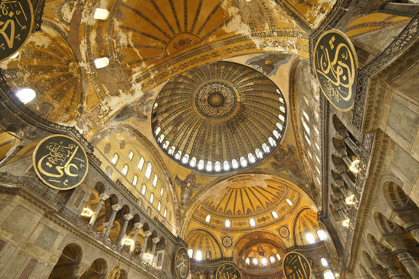 Sancta Sophia Photograph - The Dome Of Hagia Sophia by Michele Burgess