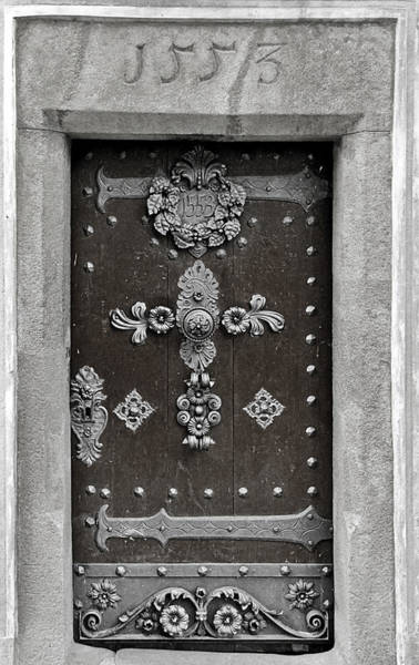 Wall Art - Photograph - The Door - Ceske Budejovice by Christine Till