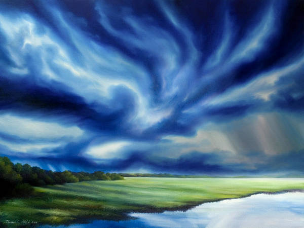 Painting - The Dragon Storm by James Christopher Hill
