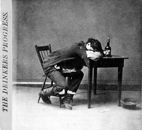 Temperance Movement Photograph - The Drinkers Progress He Is Cleaned by Everett