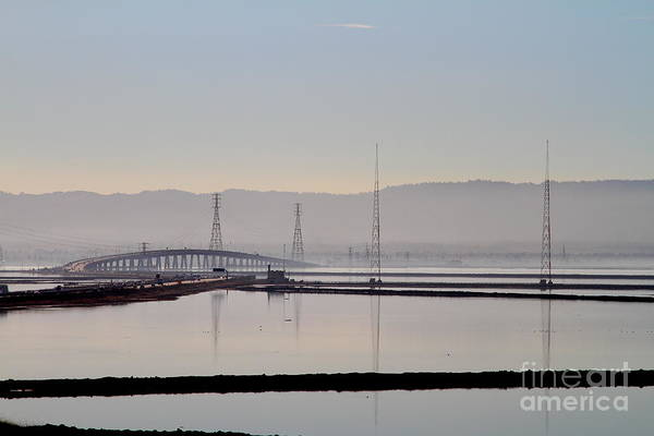 Dumbarton Wall Art - Photograph - The Dumbarton Bridge In The Bay Area Viewed Through Coyote Hills California . 7d10961 by Wingsdomain Art and Photography