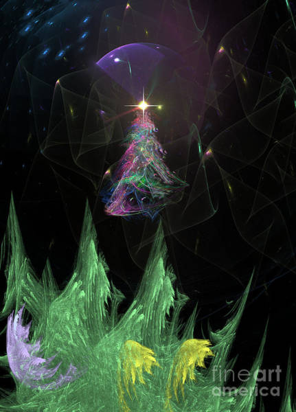 Digital Art - The Egregious Christmas Tree 2 by Russell Kightley