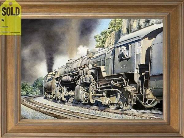 Freight Trains Painting - The El-3 2-8-8-0 Locomotive by Chris Nelson