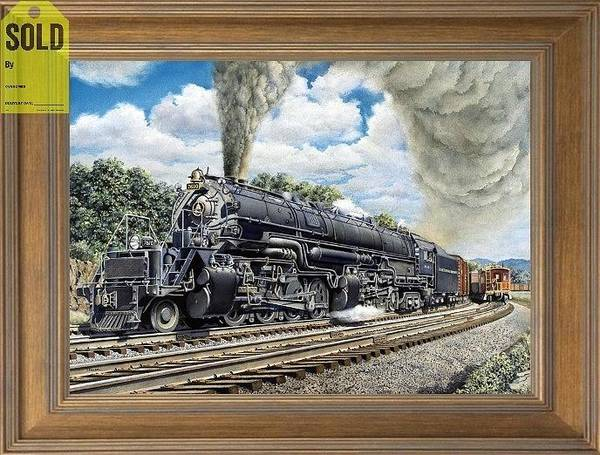 Freight Trains Painting - The Em-1 2-8-8-4 Locomotive by Chris Nelson