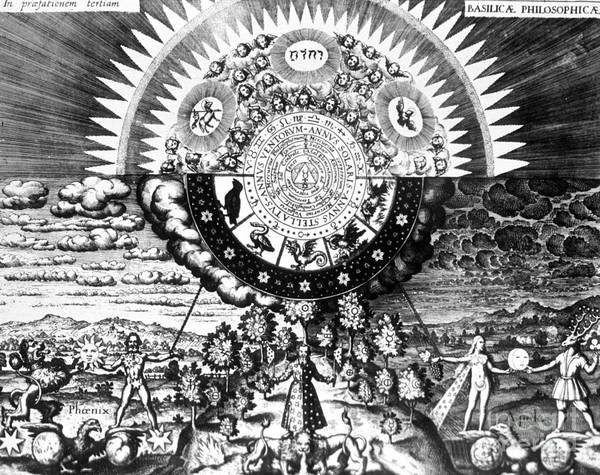 Work Of Art Photograph - The Emerald Tablet, 1618 by Science Source