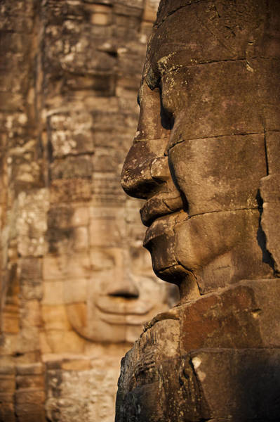 Wall Art - Photograph - The Enigmatic Faces Of Bayon Temple by Alex Treadway