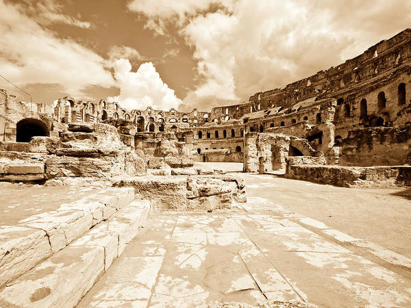 El Jem Photograph - The Entrance by Agnieszka Wolska