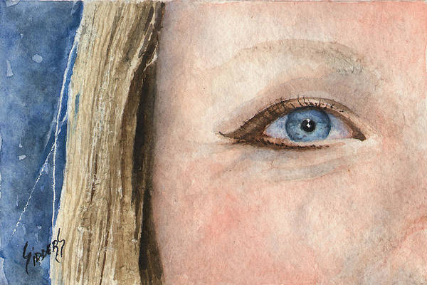 Painting - The Eyes Have It - Shannon by Sam Sidders