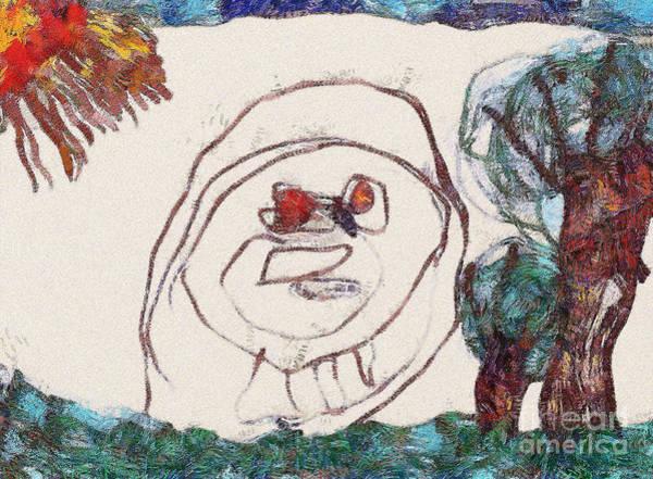 Gitana Wall Art - Painting - The Face by Odon Czintos