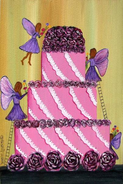 Fairy Cakes Painting - The Fairy Cake 4554 by Jessie Meier
