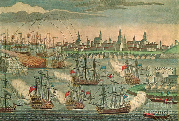 Photograph - The Fall Of Louisbourg 1758 by Photo Researchers
