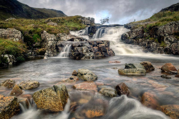 Fern Frost Photograph - The Falls At Glen Coe by Chris Frost