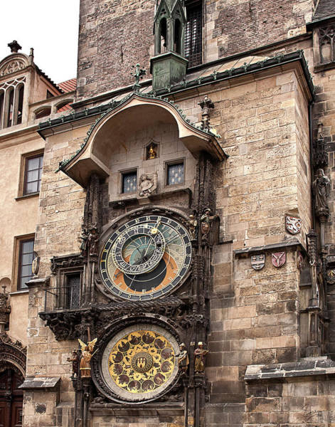 Photograph - The Famous Prague Clock by Endre Balogh