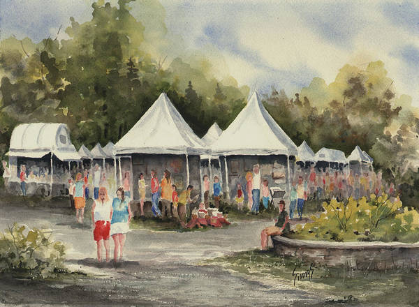 Painting - The Festival by Sam Sidders