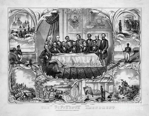 Photograph - The Fifteenth Amendment by Granger