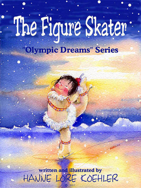 Olympic Figure Skating Painting - The Figure Skater - Cover by Hanne Lore Koehler
