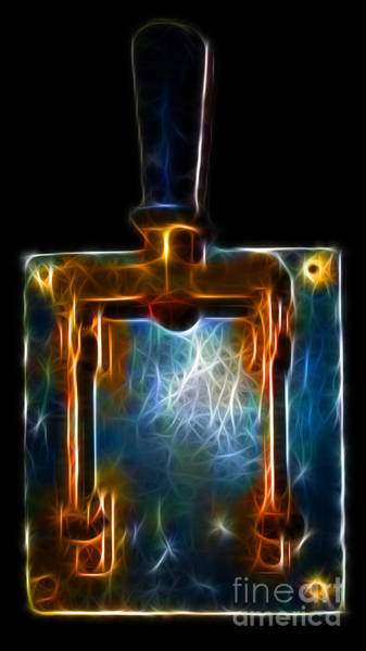 Photograph - The Final Switch - Execution By Electrocution - Electric Art by Wingsdomain Art and Photography