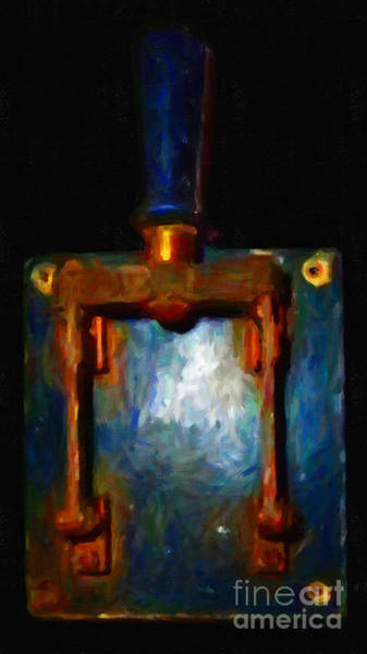 Photograph - The Final Switch - Execution By Electrocution - Painterly Version 2 by Wingsdomain Art and Photography