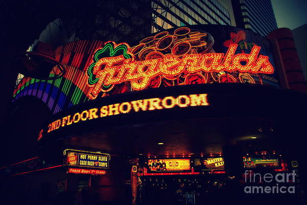 Photograph - The Fitzgerald In Down Town Las Vegas by Susanne Van Hulst