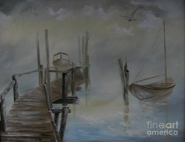 Wall Art - Painting - The Fog by Patricia Lang