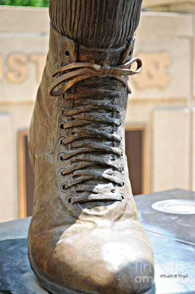 Photograph - The Foot Of Choo Choo Justice by Paulette B Wright