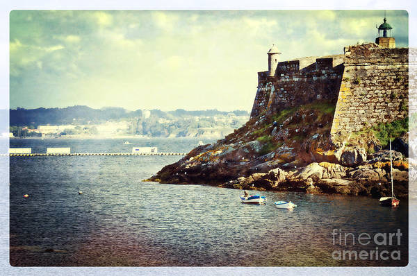 Galicia Photograph - The Fort On The Harbor - La Coruna by Mary Machare