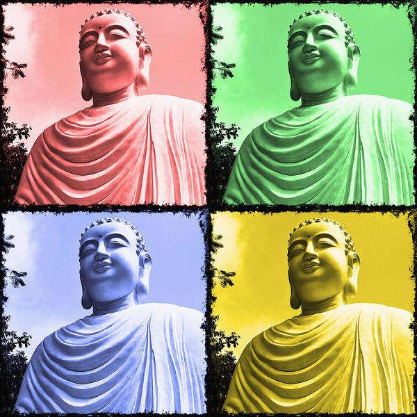 Wall Art - Photograph - The Four Buddhas by Skip Nall