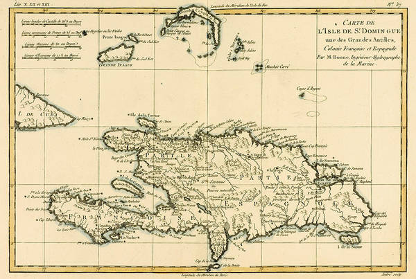 Old West Drawing - The French And Spanish Colony Of The Island Of St Dominic Of The Greater Antilles by Guillaume Raynal