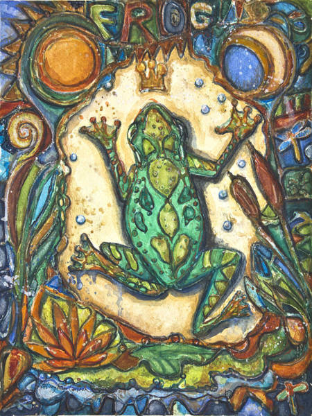 Border Mixed Media - The Frog Prince   Children Of The Earth Series by Patricia Allingham Carlson