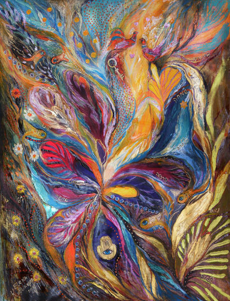 Priestly Blessing Painting - The Galilee Iris by Elena Kotliarker
