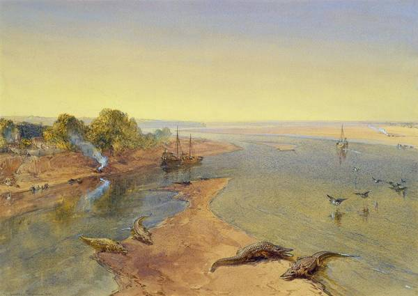 Ganges River Photograph - The Ganges by William Crimea Simpson